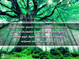 tamil quotes and kavithai about trees marangal