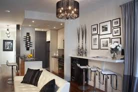 modern condo interior design ideas with burgundy wall accent and