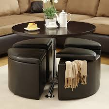 Space Saving Living Room Furniture Furniture Versatile Black Storage Table With Ottoman Seat Design