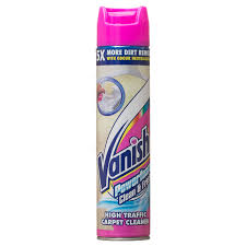 Vanish Easy Clean Carpet Cleaning Vanish Powerfoam 600ml Stain Remover Carpet Cleaner