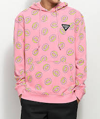 pink clothing future allover donut pink hoodie zumiez