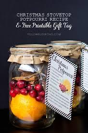 christmas potpourri gift idea u0026 free printable yellow bliss road