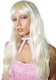 blonde long straight wig dolls kill