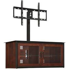 Tv Cabinet Wall Mounted Wood Amazon Com Whalen Brown Closed Door 3 In 1 Tv Stand For Tvs Up To