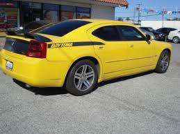 2006 dodge charger daytona used 2006 dodge charger r t daytona yellow clean carfax daytona