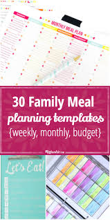 holiday trip planner template 30 family meal planning templates weekly monthly budget tip 30 meal planning templates that will make dinner time easier