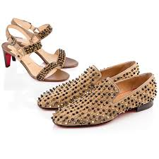 mens christian louboutin dandelion spikes flat suede loafers in