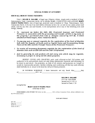 Sle Letter Certification No Pending Case Special Power Of Attorney Bir