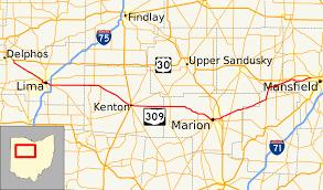 Ohio Road Map Ohio State Route 309 Wikipedia