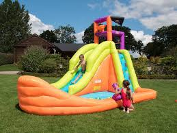 bebop bouncy castles and inflatable water slides for garden use