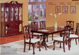 thomasville cherry dining room set table chairs queen anne ships
