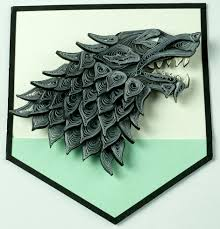 game of thrones house stark string art made as a gift to a friend