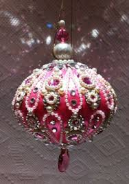 clearance pink ornaments two painted glass ornaments