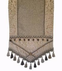 luxury damask table runner gray damask metallic linen luxury table runner sewing ideas