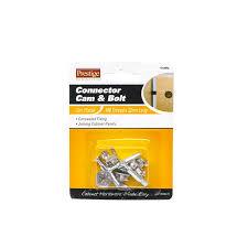 Connector Cam  Bolt Prestige Mm M Zinc Plate Pk Bunnings - Kitchen cabinet connectors