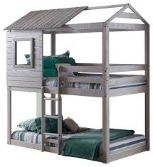 Bunk Bed With Cot Campbell U0027s Clubhouse Bunk Bed Transitional Bunk Beds By