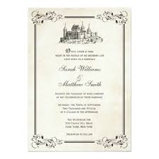 fairytale wedding invitations fairytale castle wedding invitations zazzle
