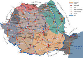 Map Of Romania In Europe by Travel To Romania Romania Map Roads And Railroads