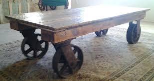 Rustic Coffee Table On Wheels Rustic Coffee Tables With Wheels Wheel Coffee Tables Coffee Table