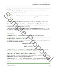 sample cleaning contract template sample free cleaning contract