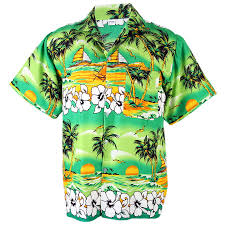 aloha shirt coconut big chaba chair ship green hgn244t