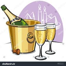 champagne clipart champagne bottle ice bucket two champagne stock vector 92335405