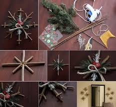 diy rustic snowflakes find projects to do at home and arts