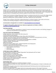 resume sles for college students application sle stunning brand ambassador resume duties for phlebotomy resume