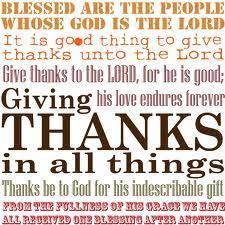giving thanks unto god for god s alone ministries