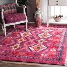 Fuchsia Rug Top Product Reviews For Nuloom Handmade Tribal Wool Fancy Fuchsia