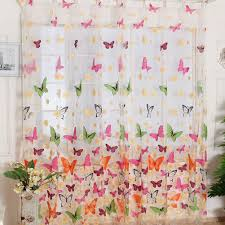 butterfly print curtains window treatments products and tulle