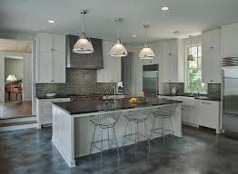Dark Grey Kitchen Cabinets Gray Industrial Kitchen Features Light Gray Cabinets Paired With