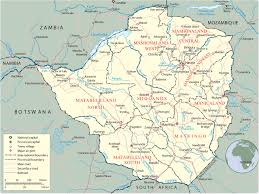 Geographic Map Of Africa by Map Of Zimbabwe Harare Travel Africa