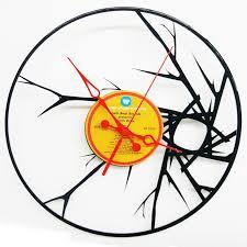 blare abstract vinyl record clock abstract wall clock wall clock