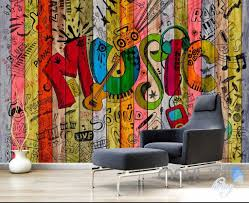 3d graffiti music color board wall murals paper art print decals 3d graffiti music color board wall murals paper art print decals decor wallpaper idcwp ty