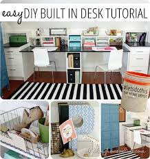Diy Built In Desk Easy Diy Built In Desk Tutorial Finding Home Farms