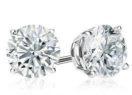 dimond earings 1 carat diamond earrings diamondstuds