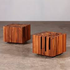 Cherry Wood Side Table Contemporary Coffee Table Oak Walnut Cherrywood Cubo By