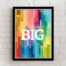 framed office english inspirational modern decoration painting