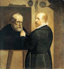 luca cambiaso the painter painting a portrait of his father late