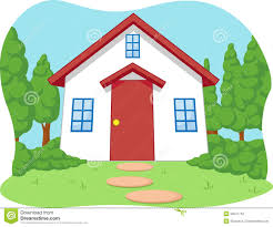 Cute House by Cartoon Of Cute Little House With Garden Stock Vector Image