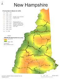 Nh County Map National Geodetic Survey 2014 Gps On Bench Marks Campaign
