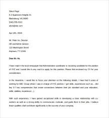 assistant coordinator cover letter