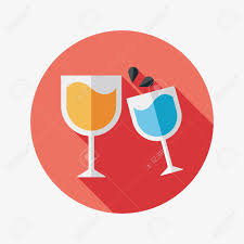 martinis cheers martini glass cheers flat icon with long shadow royalty free