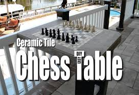 Diy Chess Set by How To Make A Ceramic Tile Chess Table Easy Diy Project Youtube