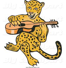 jaguar clipart big cat vector clipart of a guitarist jaguar sitting by patrimonio