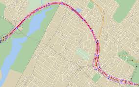 Mapquest Maps Map Of The Bergen Passaic Expressway Local Lanes I 95