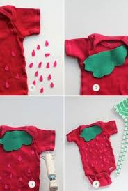 Strawberry Baby Halloween Costume Diy Infant Strawberry Costume Easy Parent