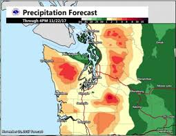 Weather Fronts Map 1st Of 2 Warm Rainy Fronts Settles In Tuesday In Seattle