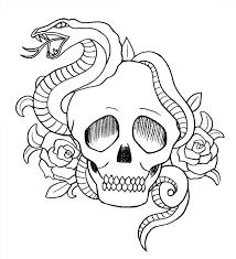 snake skull and roses by buzujima on deviantart